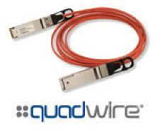 FCBN414QB1C15 Finisar Quadwire FDR 56G 15m QSFP Active Optical Cable AOC