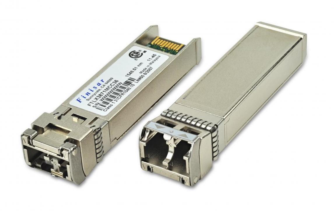 Finisar FTLX3871DCC58 DWDM ZR 80km 10G SFP+ Transceiver