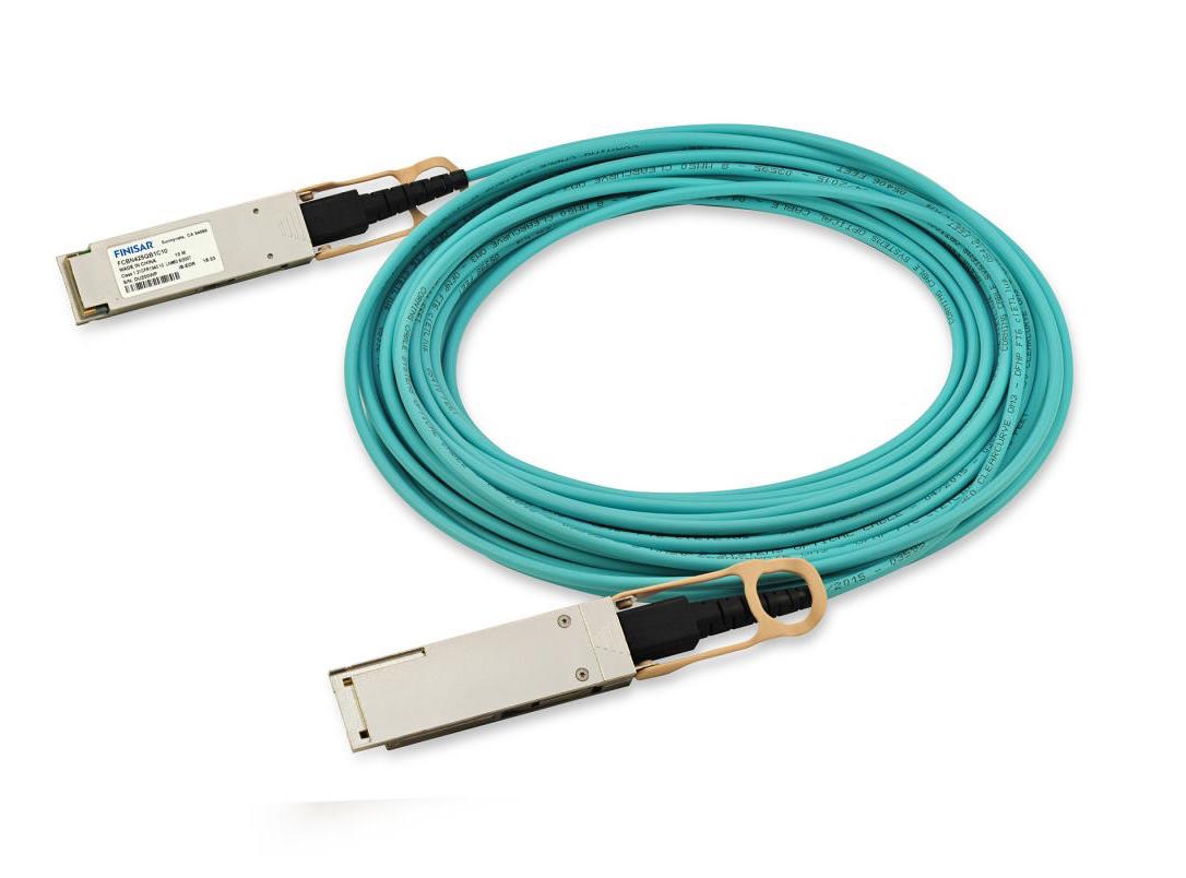 Finisar FCBN425QB1Cxx Quadwire 100G Infiniband MM QSFP Active Optical Cable AOC